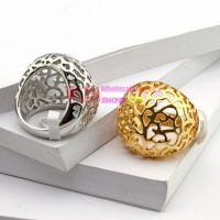 2014 gold silver color overlapping curve ring stainless steel ring for woman fashion pattern casting ring【Gold】