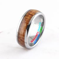 tungsten rings with blond wooden textures on it width 8mm for man and women