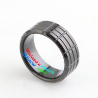 tungsten rings black one with textures width 9mm for man and women