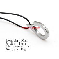 Modern Art Silver Tungsten Man Necklace Pendant Jewelry