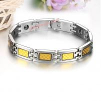 Charm fatigue luxury titanium steel couple bracelet