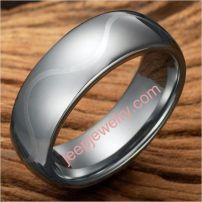 Artistic Wave Silver Tungsten Ring