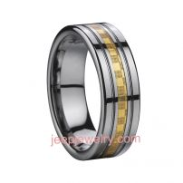 Palace restoring tungsten and carbon fiber ring has man and woman styles as a gift