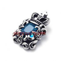 Stainless steel set auger pendant blue ShanZuan pendant jewelry