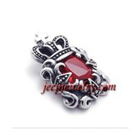 Stainless steel die casting pendant red ShanZuan set auger personality male pendant