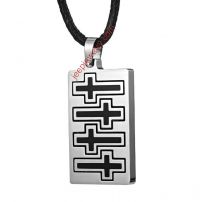 Mens Stainless Steel Cross Dog Tag Necklace Pendant Chain