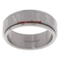 Stainless Steel Roman Numeral Spinner Ring