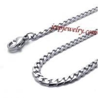 Men's personalized stainless steel necklace