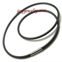 quality stainless steel joints rubber necklace