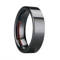 Black Polished Ceramic Ring Tradition Jewelry