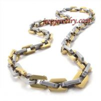 golden fashionable stainless steel thick necklace