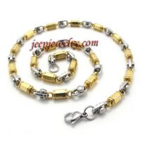 bamboo stainless steel necklace