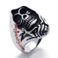 shaman skeleton stainless steel ring