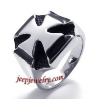cross stainless steel ring