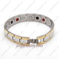 The fashion golden rimmed stainless steel bracelet