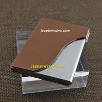 The relaxing coffee color leather alloy cardcase