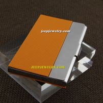 Yellow appearance leather with amazing power alloy cardcase