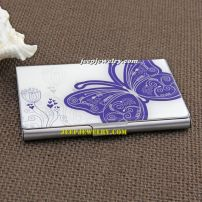 the blue butterfly pattern stainless steel cardcase