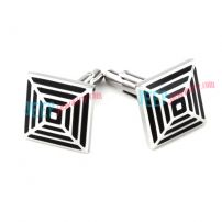 Silver Different Sizes Squares Stainless Steel Cufflinks Wholesale Barbie Jewelry