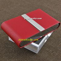 The length of 10centimeter in red leather with beautiful plate alloy cardcase