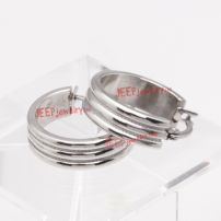 Cool drawbench stainless steel earrings