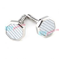 Sea Wave Octagon Cufflinks China Stainless Steel Jewelry
