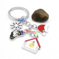 Wonderful Iron Annulus Key Chain Christmas Car Key Rings