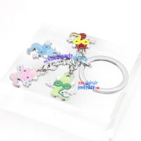 Cute Four Cartoons Decorations Iron Annulus Shape Key Rings fashion Key Rings