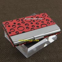 Full of cure wave shape red alloy cardcase