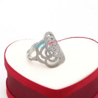 The rose silver wedding stainless steel ring