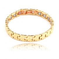 The gold spot pattern link bracelet with