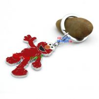 Fascinate little red bear-shaped metal key chain stainless steel key seperate multiple rings