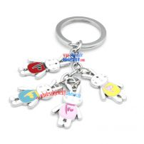 Cute Iron Annulus Key Ring with Four Rabbit Decorations rabbit cute Key Rings