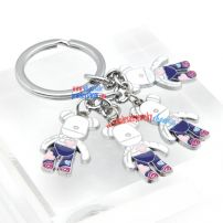 Adorable Bear Annulus Iron woman Key Chains Men's Key Rings