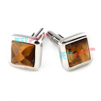 Brown Square Couple Stainless Steel Cufflinks Wholesale