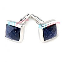 Embossing Deep Blue Star Sky Cufflinks Wholesale Couple Jewelry