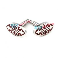 Special Flower Stripes Stainless Steel Cufflinks Jewelry Accessories