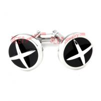 Silver X-Shape Stainless Steel Cufflinks Wholesale Replica Jewelry