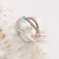 The amazing appearance silver stainless steel ring