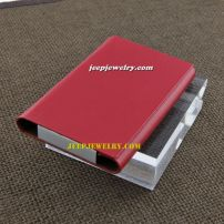 The positive leather in red alloy cardcase