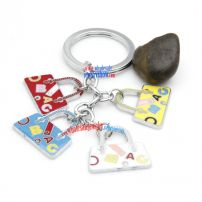 Fashionable lady's handbag-shaped metal stainless steel key chains novelty key rings