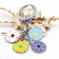 Beautiful Colorful daisy Decorations Annulus Iron Key Rings Unique Key Rings