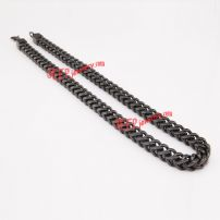 Black wide range of stainless steel necklace