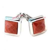 Embossing Sand Red Square Stainless Steel Cufflinks Best Wholesale Jewelry