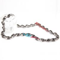 Pattern lantern noble stainless steel necklace