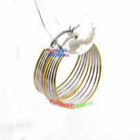 Cool Style Golden & Silver Circular-Shape of Stainless Steel Bridal Earrings