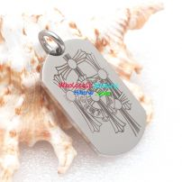 A good friend will know your favor and buy the best present to you—special dog tag pendant