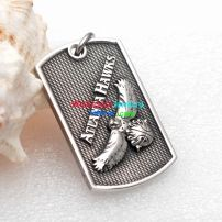 The necessary decoration of a handsome boy—a piece of cool dog tag pendant mens jewelry