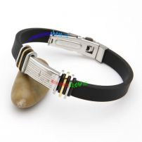 Romantic Stainless Steel Leather Bangle with Small Colorful Circles Charriol Bangles