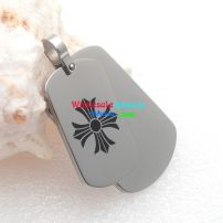 What would impress you most—cool man jewerly two tag pendant with a good design